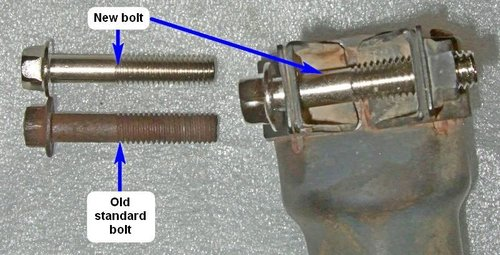 Exhaust Clamp and Front Fork Clamp Bolt
