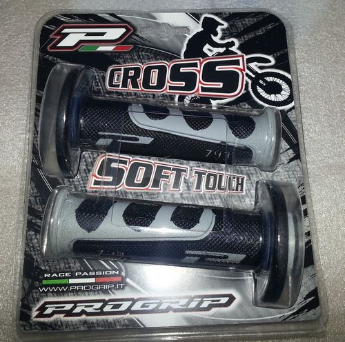 "Grips grey/black - Progrip Soft Touch ""Cross"" grips - 115mm"
