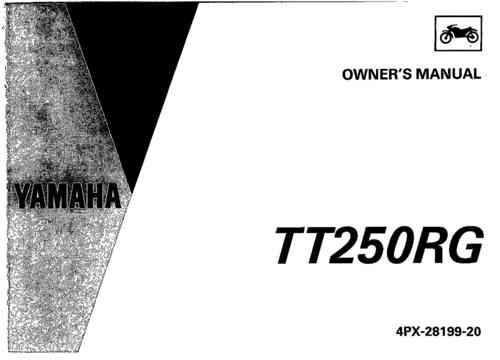 Owner's manual for metal-tanked TTR250s