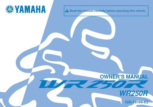 Owner's manual for WR250R - download only