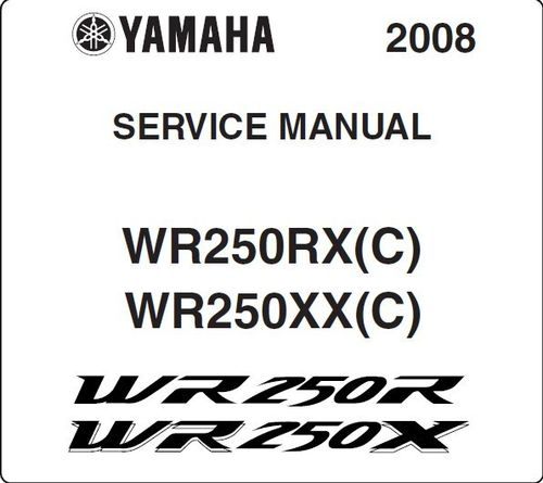 Service / workshop manual for WR250R and WR250X - download only