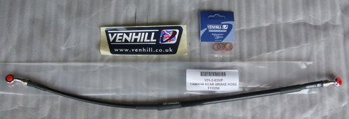 Brake Hose Rear - black - Venhill