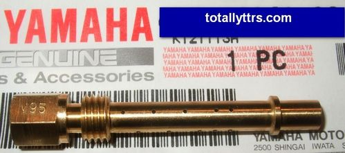 Carb Nozzle V95 for main jet - White Open Enduros - genuine Yamaha part