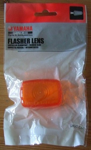 Indicator lens - fits front or rear - for white TTRs - genuine Yamaha part