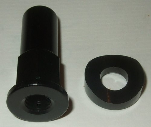 Rim Lock nut and washer set - black