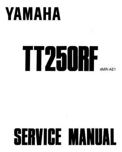 Service / workshop manual for metal-tanked TTR250s