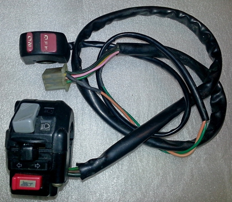 Light switch assembly with extra headlight on/off switch - used ...